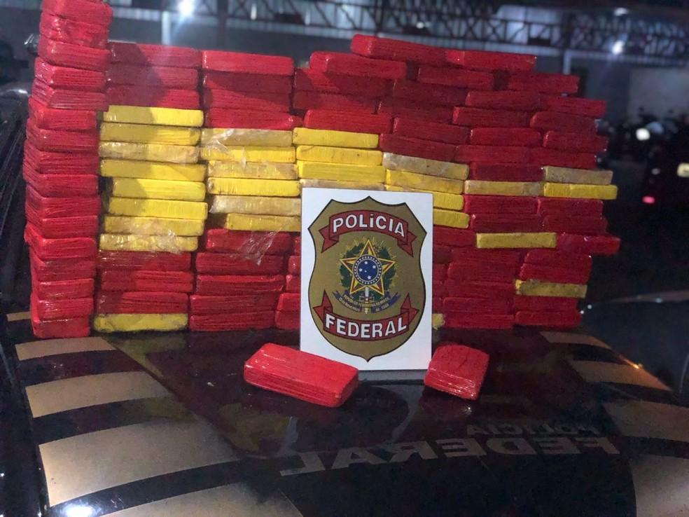 Droga apreendida pela Polícia Federal  — Foto: Polícia Federal/ Divulgação