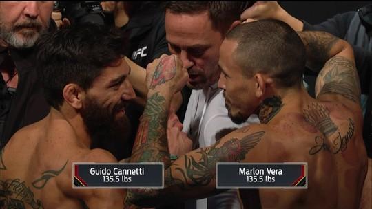 Guido Cannetti e Marlon Vera passam pela pesagem do UFC Buenos Aires