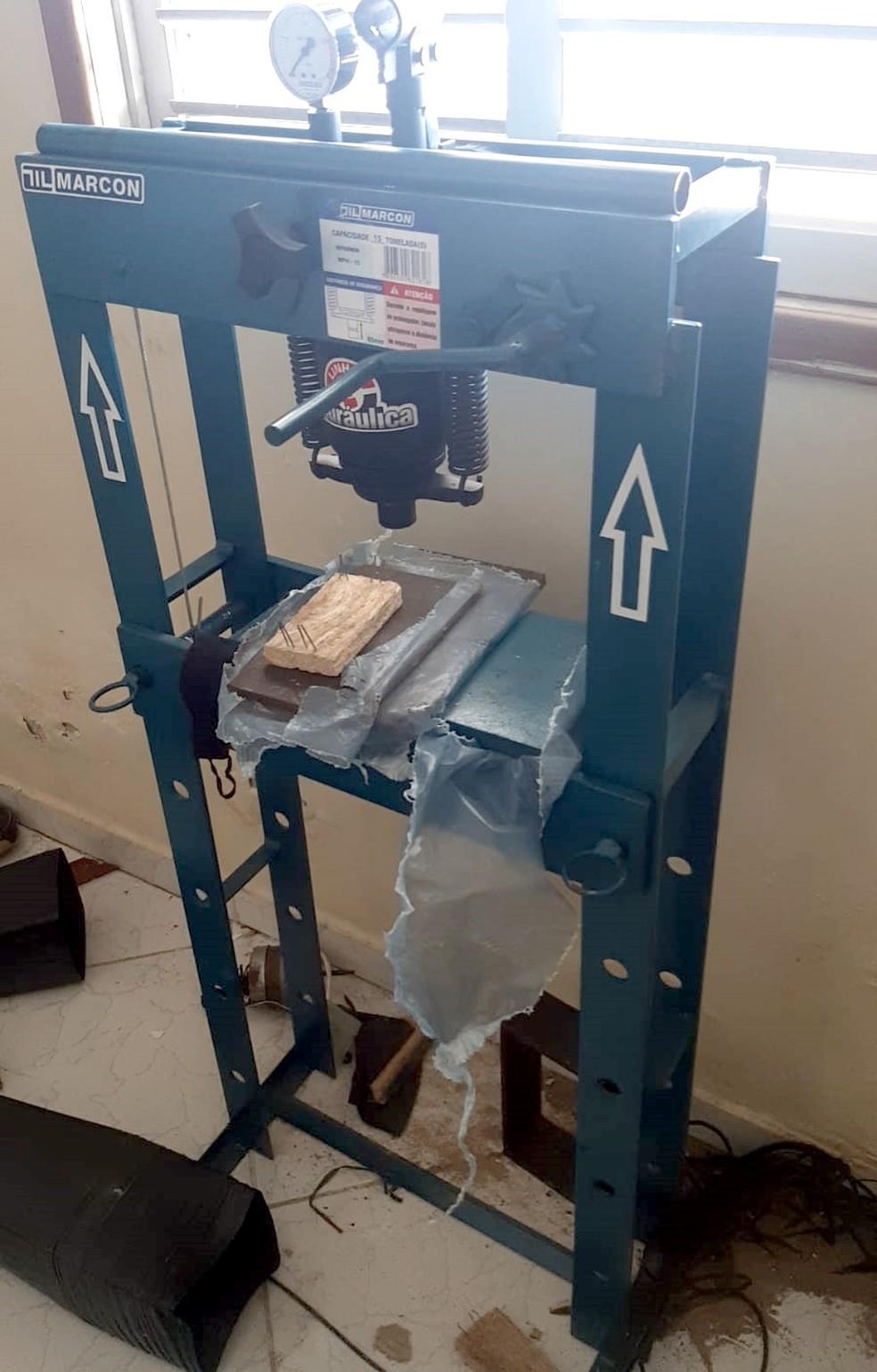 Força-Tarefa desativa laboratório clandestino utilizado para refino de drogas em Mossoró — Foto: Cedida