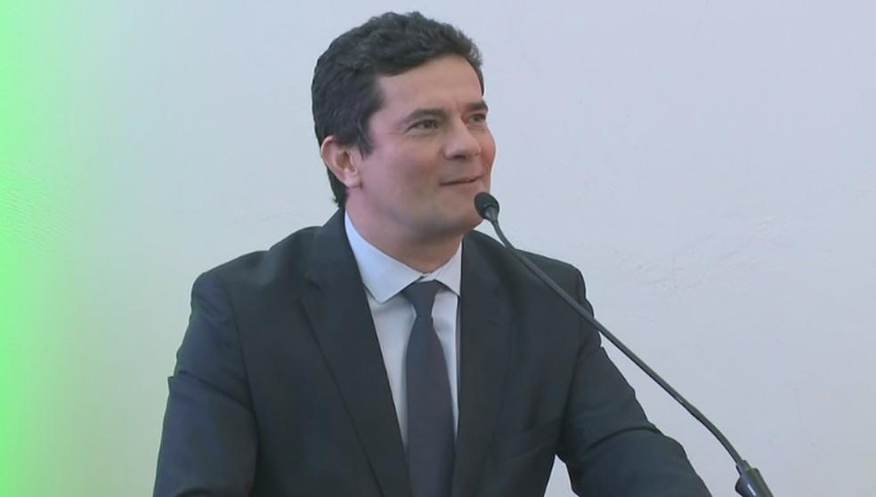 Sergio Moro fez visita técnica ao Complexo Penitenciário de Chapecó — Foto: Reprodução/NSC TV