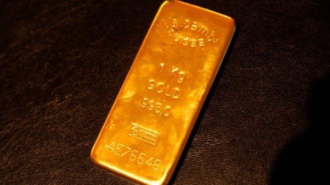 A cotação da barra de ouro superou US$ 1500 pela primeira vez em seis anos (Foto: Getty Images via BBC News Brasil)