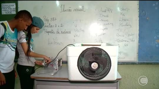 Com temperaturas de quase 40° C, alunos de Teresina criam umidificadores de ar
