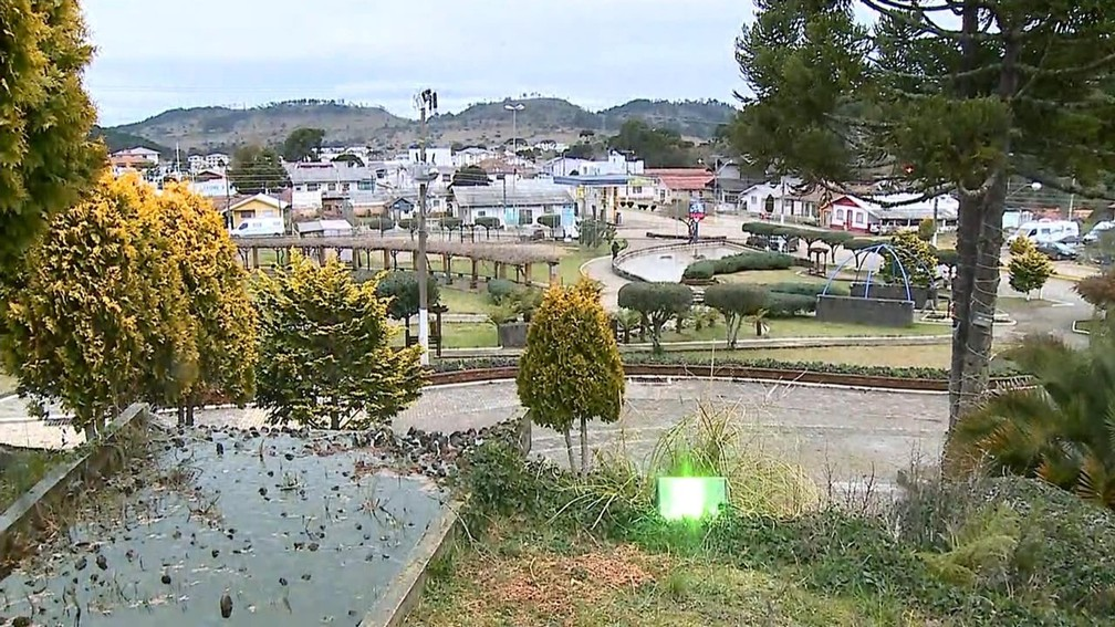 Urupema, na Serra catarinense, nesta terça-feira (29) — Foto: Reprodução/NSC TV