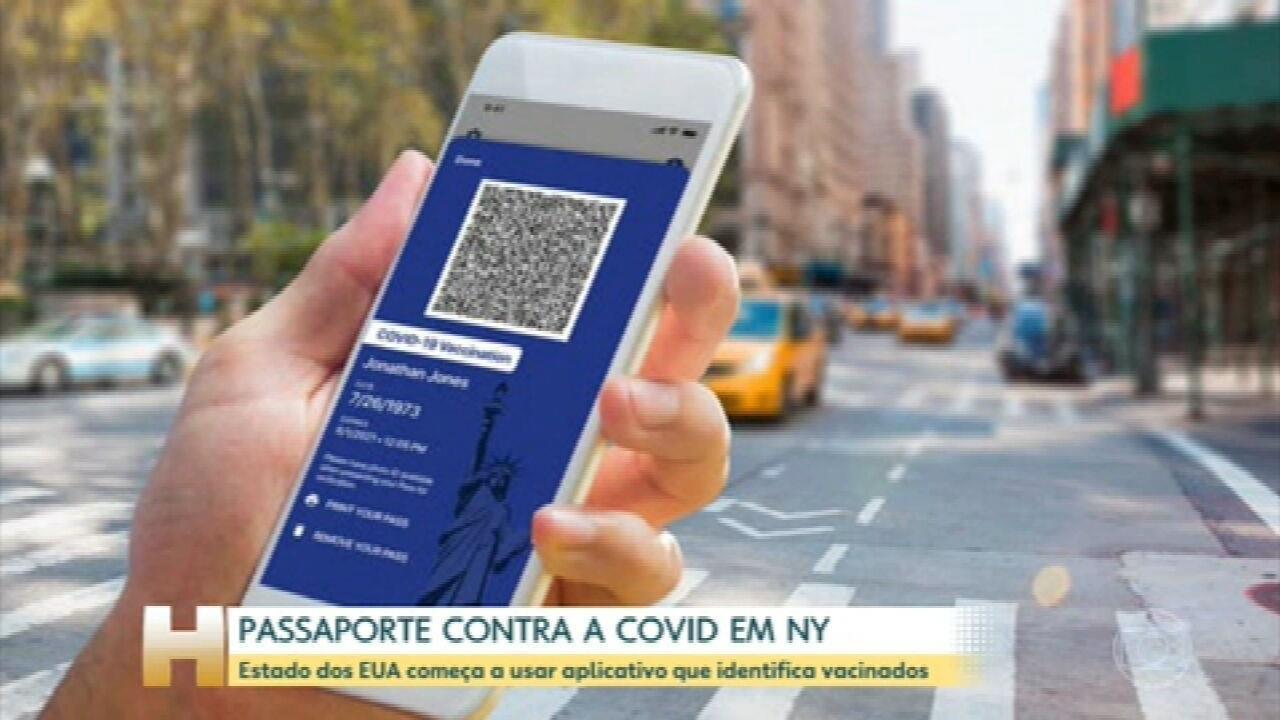 Começa a valer hoje em Nova York um aplicativo que identifica quem já foi vacinado contra a Covid-19