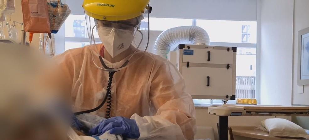 Paciente em leito de UTI no DF em imagem de arquivo — Foto: TV Globo / Reprodução