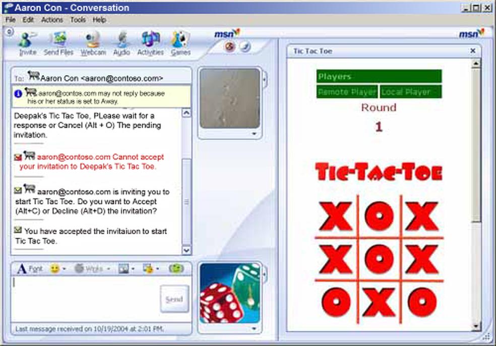 Você poderia jogar online com seus contatos no MSN Messenger (Foto: Reprodução/Microsoft)