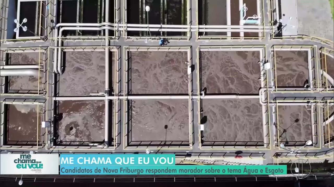 Água e Esgoto: Candidatos de Nova Friburgo respondem morador sobre o tema