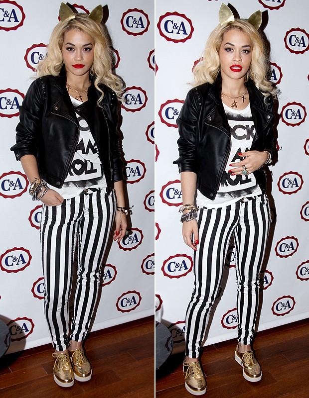 Rita Ora com a calça C&A, jajá nas lojas da rede (Foto: Foto Rio News)
