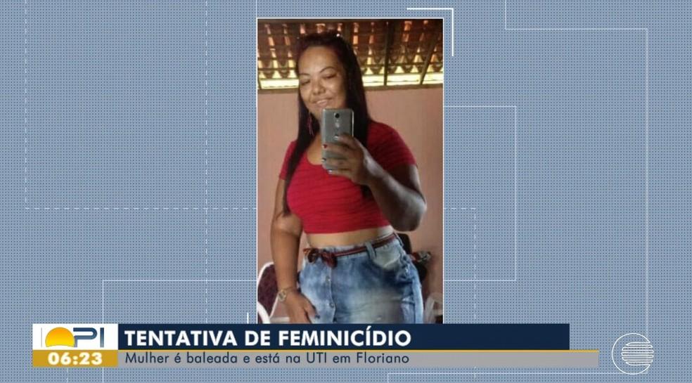 Jeovânia Oliveira foi atingida por disparos de arma de fogo na face e no tórax  — Foto: Reprodução/TV Clube