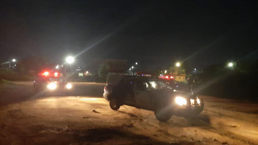 Motorista de aplicativo se joga de carro e foge de assaltantes após sequestro relâmpago; três são presos em Manaus — Foto: Polícia Militar/Divulgação