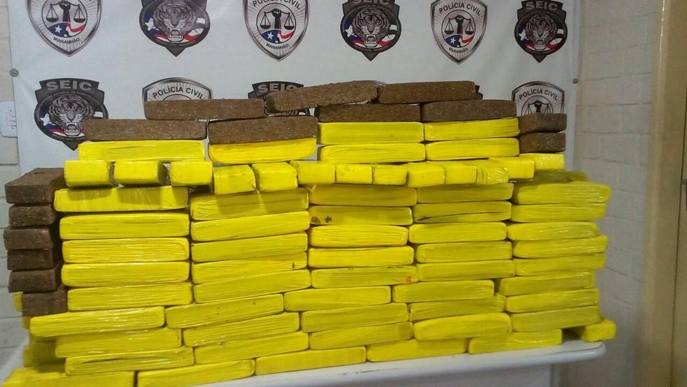 Polícia Civil apreende em São Luís 150 kg de maconha (Foto: Mano Costa/TV Mirante)