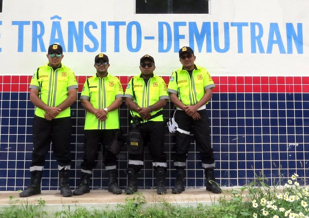 Agentes do Demutran de Farias Brito — Foto: Demutran/Divulgação