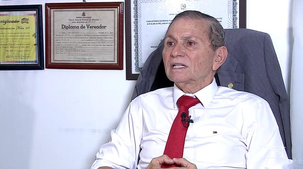 Francisco Carvalho (PSL) é presidente do PSL e vereador em São Luís. Ele nega as suspeitas do MPE de que o partido usou laranjas nas eleições de 2018  — Foto: Reprodução/TV Mirante