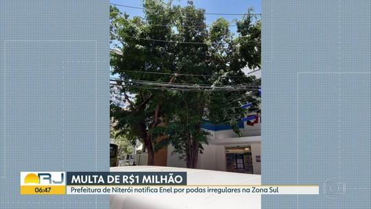 Prefeitura de Niterói multa concessionária Enel por poda irregular de 102 árvores