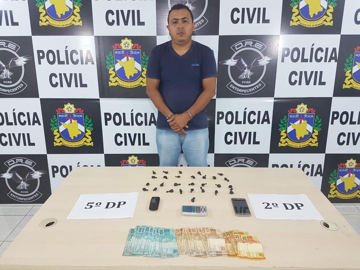 Suspeito de vender droga em escolas estaduais é preso com 28 papelotes de cocaína em Boa Vista