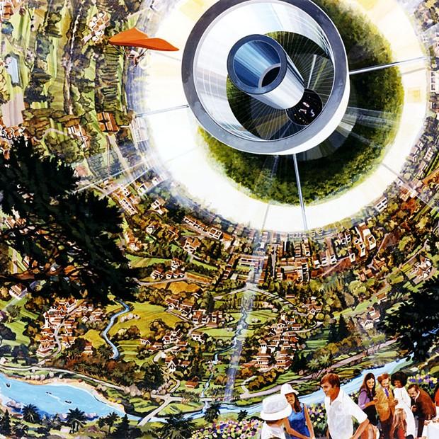 Interior das Esferas de Bernal (Foto: Rick Guidice/NASA Ames Research Center)