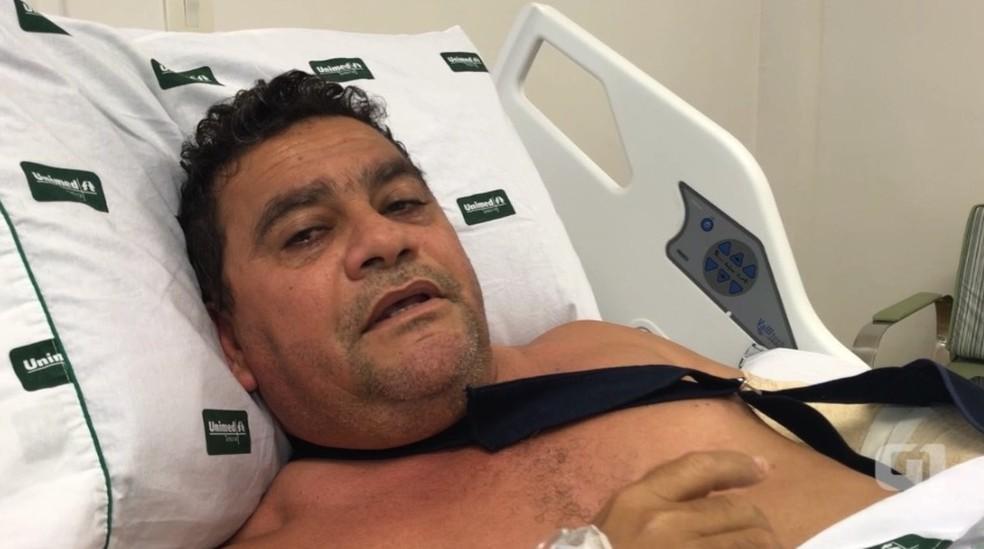 Prefeito de Riacho Frio foi baleado durante tentativa de homicídio — Foto: Reprodução/G1 PI