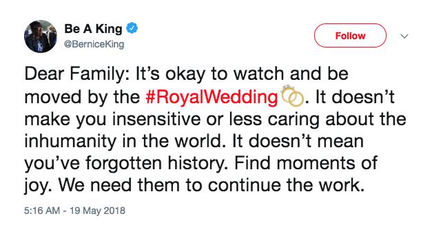 Tweet de Bernice King (Foto: Reprodução/Twitter)