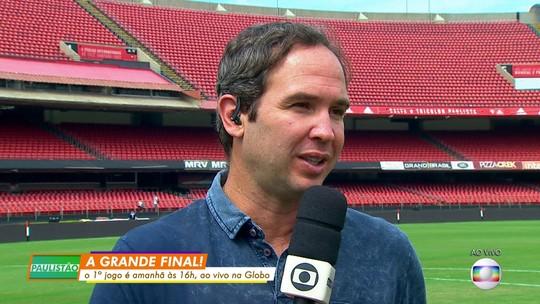 Caio Ribeiro não vê favorito na final, mas diz que São Paulo tem de abrir vantagem no Morumbi
