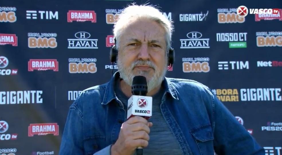 José Luís Moreira, vice de futebol do Vasco — Foto: Reprodução