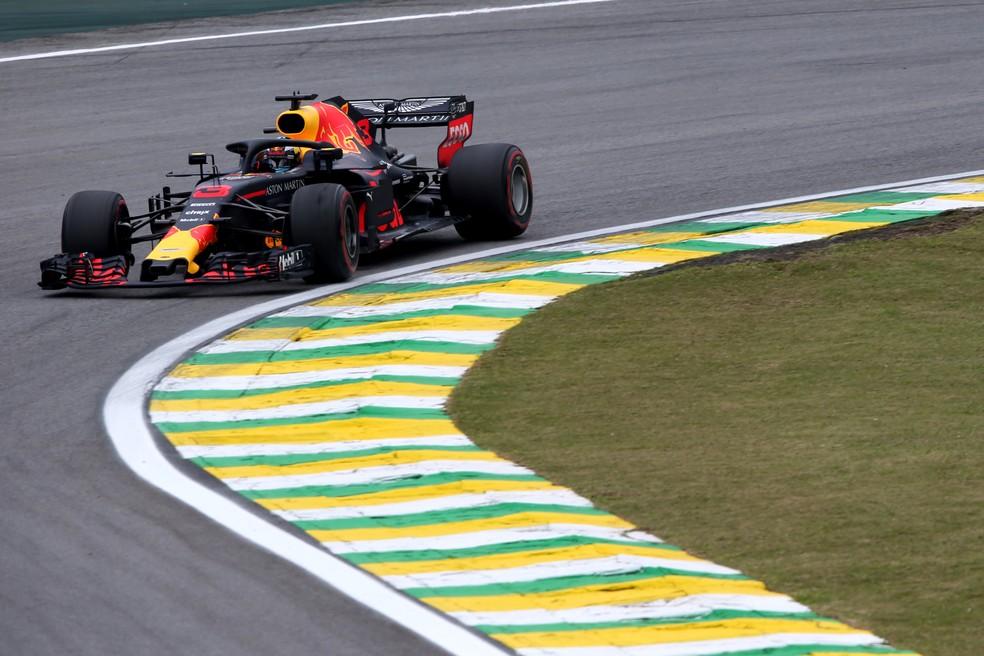 Ricciardo foi o 4º em Interlagos — Foto: Getty Images