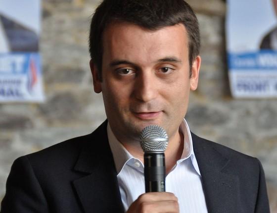 Florian Philippot, que coordenou a campanha presidencial de Le Pen, foi fotografado em um passeio com o namorado (Foto: Gauthier Bouchet)