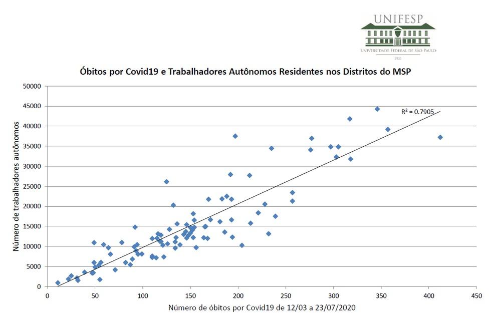 Pesquisa Unifesp analisa perfil profissional dos mortos por coronavírus na cidade de SP — Foto: Reprodução/Unifesp