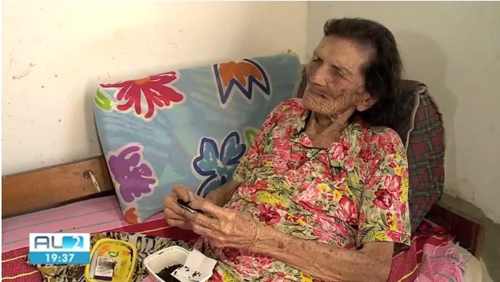 Alagoana Maria Josefa da Silva tem 117 anos e pode entrar para o Guinness — Foto: Reprodução/TV Gazeta de Alagoas