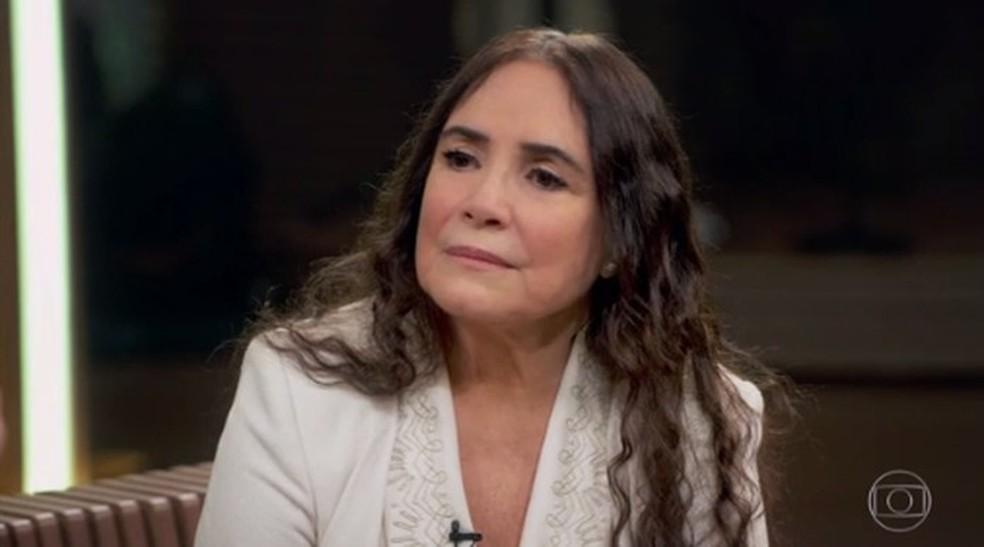 Regina Duarte no 'Conversa com Bial' — Foto: Reprodução/TV Globo