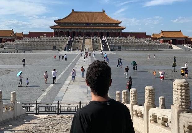 Lucas Marques, COO da startup Méliuz, em visita à China (Foto: Acervo pessoal)