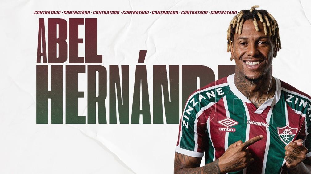 Fluminense anuncia Abel Hernandez — Foto: Divulgação