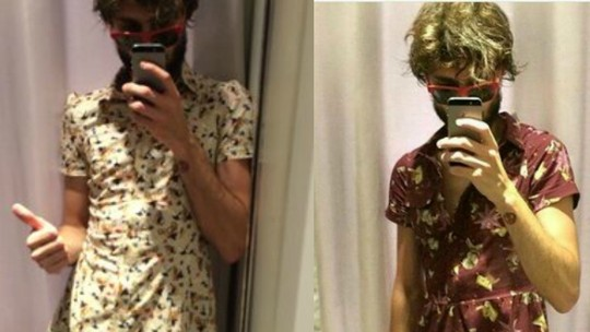 Pedro conta receio de usar vestido no BBB e namorada defende: 'Ele fica lindo'