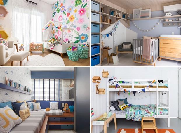 Montagem para matéria com 13 quartos de bebês e crianças  (Foto: Casa e Jardim)