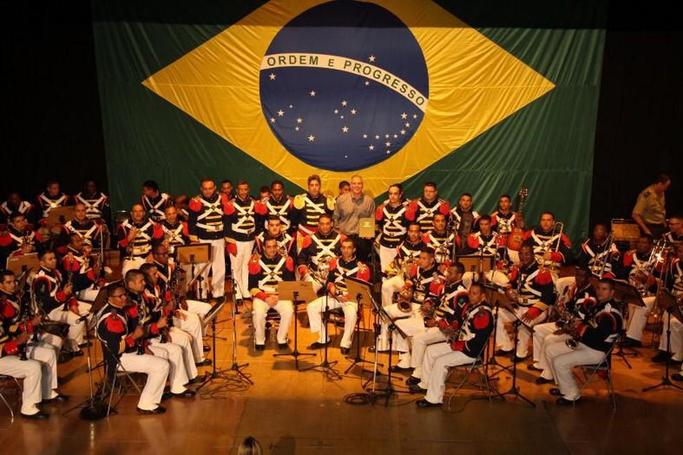 Banda do Imperador tem 1.500 canções no repertório.  — Foto: Divulgação/Exército