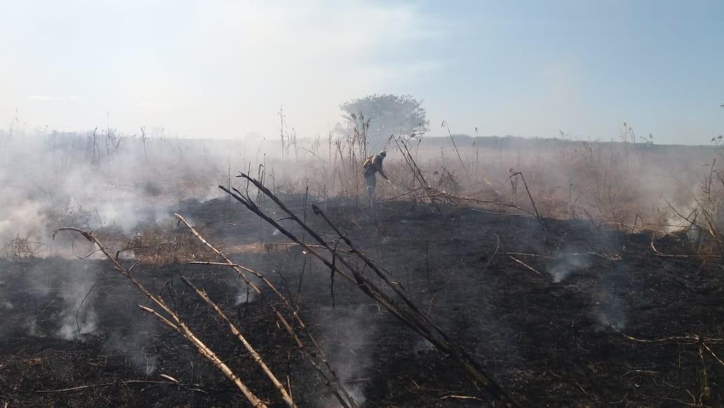 Incêndio atinge cerca de 80 hectares de vegetação na zona rural de Iguatu, no Ceará