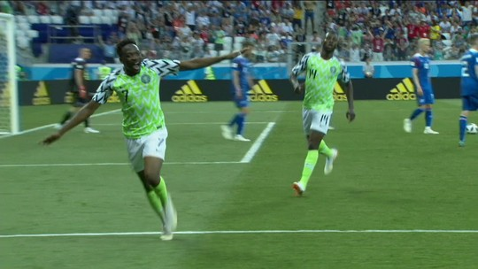 Confira os gols de Nigéria 2 x 0 Islândia pelo Grupo D da Copa do Mundo