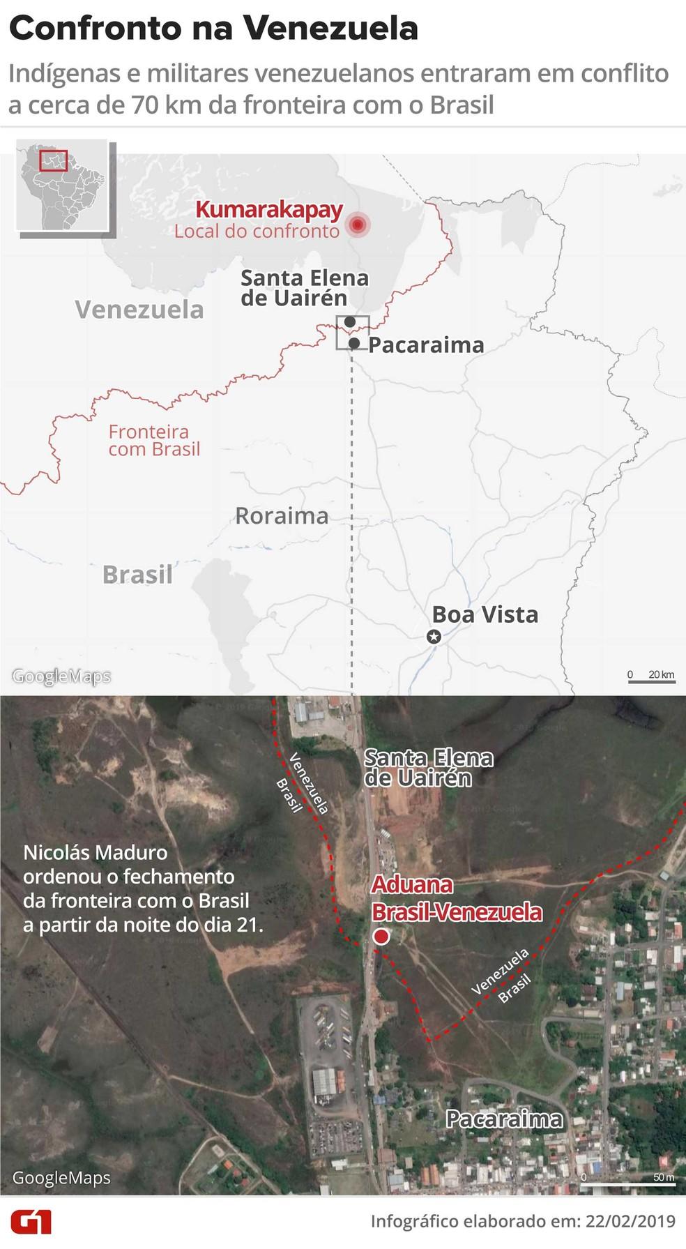 Confronto na Venezuela — Foto: Rodrigo Sanches/G1
