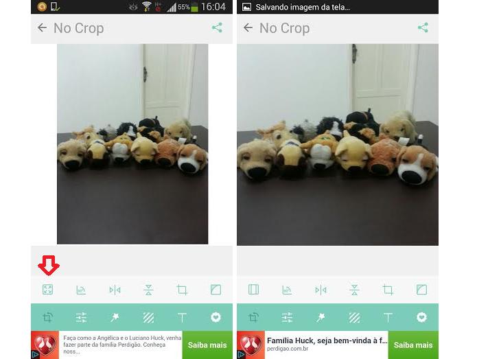 Modificando uma foto normal para o formato quadrado no Instagram (Foto: Aline Jesus/Reprodução)