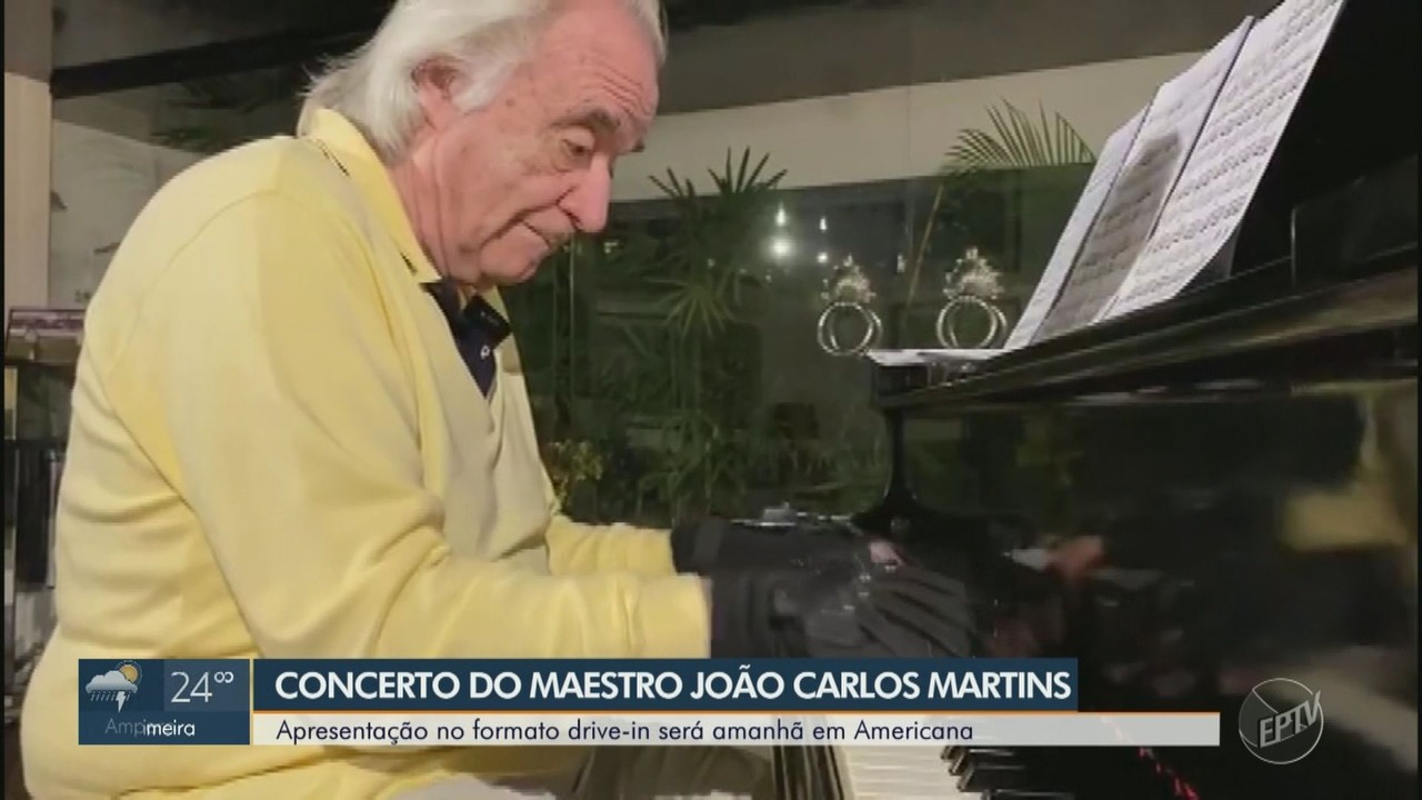 Maestro João Carlos Martins apresenta concerto no formato drive-in em Americana