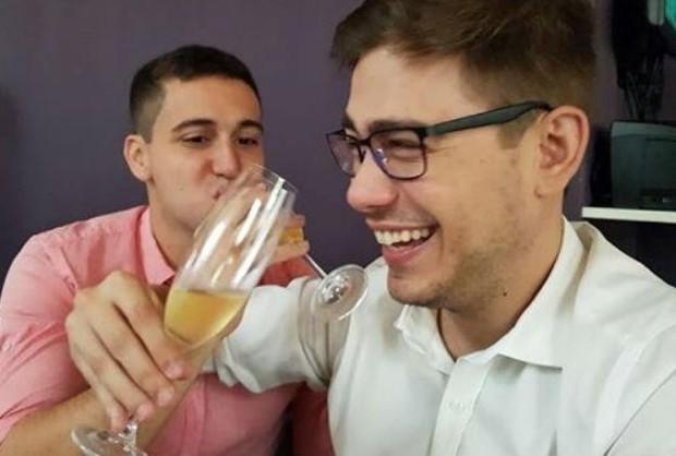 Pedro Figueiredo e Erick Rianelli se casam (Foto: Reprodução)
