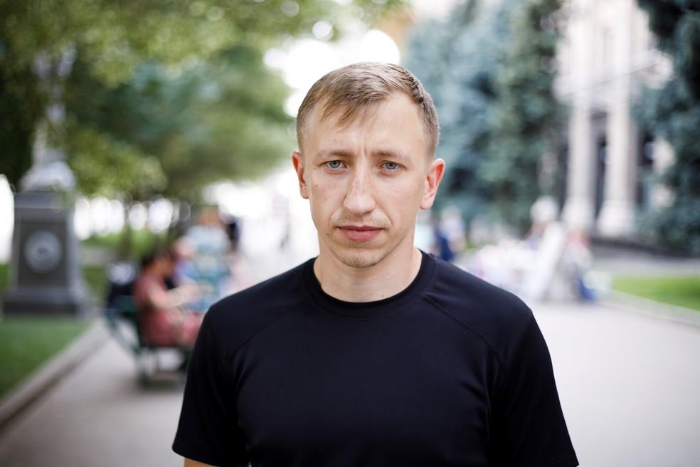 Vitaly Shishov, chefe de uma ONG sediada em Kiev de ajuda a bielorrussos que fogem de perseguição política, em foto de 18 de julho de 2021 em Kiev — Foto: RBC-Ucrânia via Reuters
