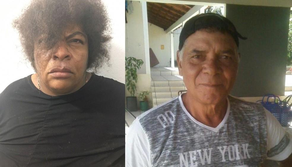 Juscélia Alves dos Santos Leal (à esquerda) é apontada como autora da morte de Jailson Francisco (à direita) (Foto: Divulgação)