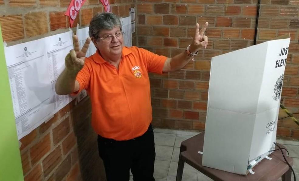 João Azevêdo eleito Governador da PB — Foto: Hebert Araújo/TV Cabo Branco