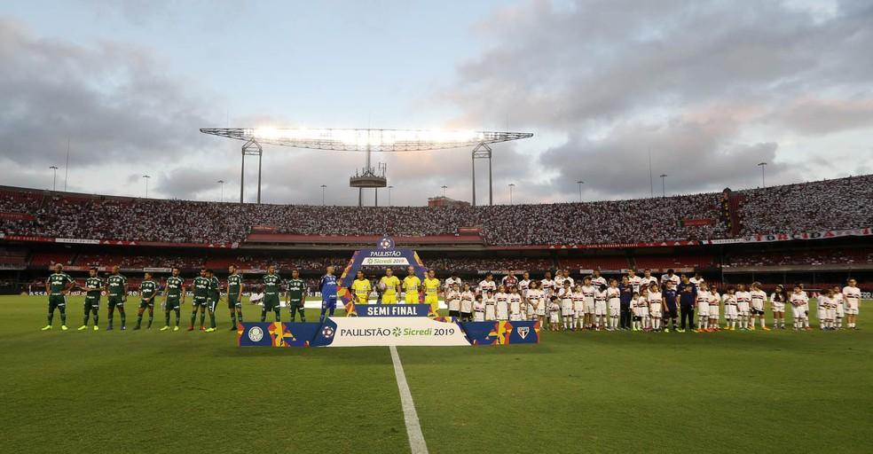 Palmeiras x São Paulo no Morumbi — Foto: César Greco / Ag. Palmeiras