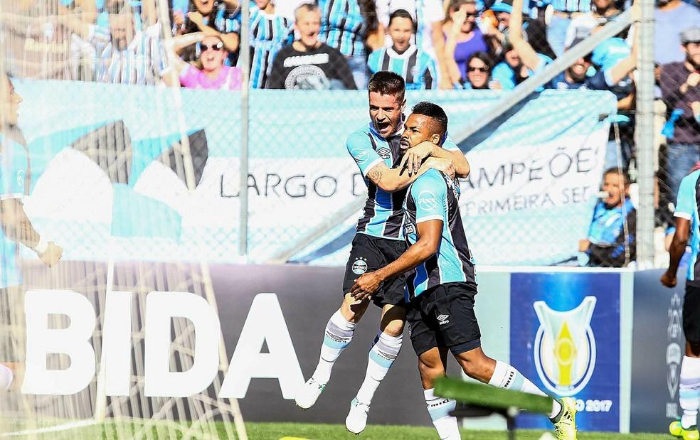 Fernandinho é o goleador do Grêmio no Brasileiro, com 9 gols (Foto: Rodrigo Rodrigues/Divulgação Grêmio)