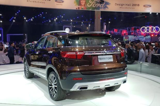 Ford Territory passou por alterações de estilo em relação ao modelo JMC (Foto: Tabatha Benjamin/Autoesporte)