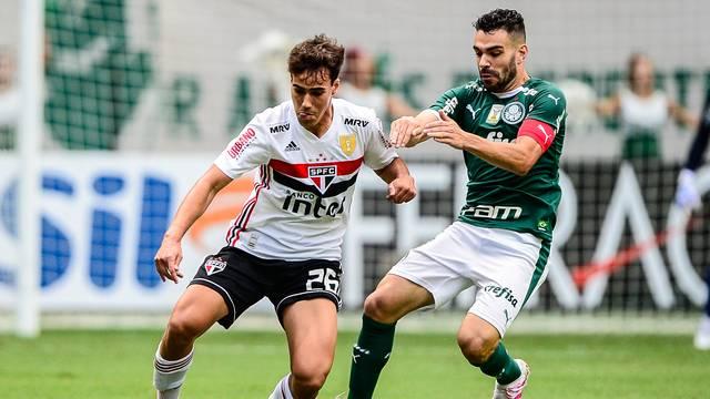 Igor Gomes e Bruno Henrique em Palmeiras e São Paulo