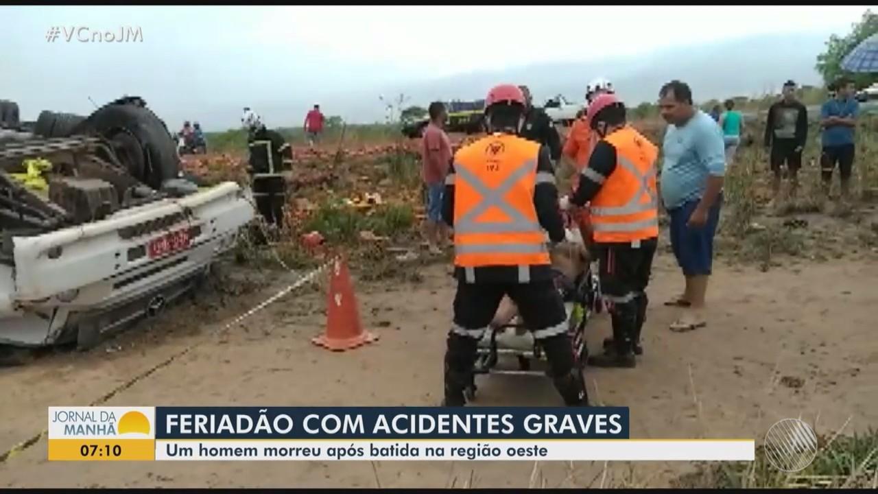 Homem morre em acidente de trânsito em Luís Eduardo Magalhães, no oeste do estado