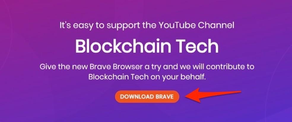 Ação para iniciar o download do navegador Brave no PC — Foto: Reprodução/Marvin Costa
