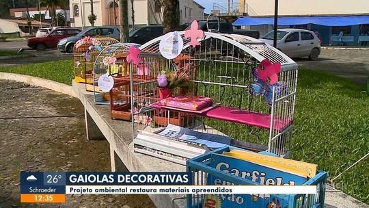 Projeto ambiental dá novo destino para gaiolas apreendidas em ações contra a caça ilegal